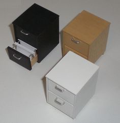 miniature filing cabinets by ELF Mins, via Flickr