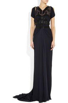 AMANDA WAKELEY  Bead-embellished silk gown