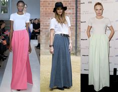 I think maxi skirts and maxi dresses will be my spring and summer go-to outfit!