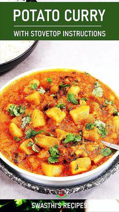 Aloo Recipes, Veg Recipes, Curry Recipes, Indian Food Recipes, Sambhar Recipe, Jamun Recipe, Vegetarian Dinners, Vegetarian Recipes, Chicken Dum Biryani Recipe