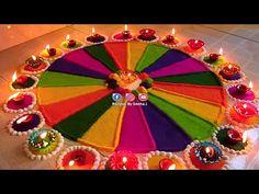 Happy Diwali Rangoli, Easy Rangoli Designs Diwali, Rangoli Simple, Indian Rangoli Designs, Rangoli Designs Latest, Simple Rangoli Designs Images, Rangoli Designs Flower, Free Hand Rangoli Design, Rangoli Border Designs