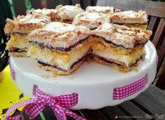 Ciasto budyniowe z dżemem i bezą