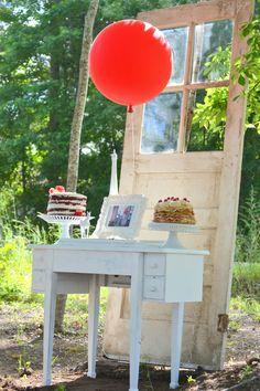 The Red Balloon Birthday Party Planning Ideas Supplies Idea Cake Balloon Party, Red Balloon, Birthday Balloons, Julie Ann, Big Balloons, Tassel Garland, French Films, Dessert Table, Birthday Celebration