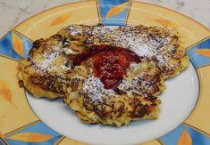 Bananen-Quark Cakes mit Mandelkruste - Rezept von Checkos Backstube Pancakes, French Toast, Breakfast, Food, Youtube, Recipes With Bananas, Baking, Food Food, Fruit