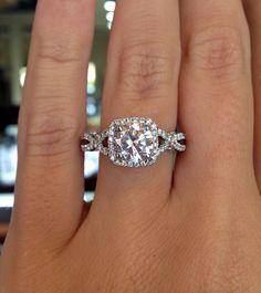 Verragio INS-7070CU-GOLD Diamond Engagement Ring dream ring! Cushion cut with a halo