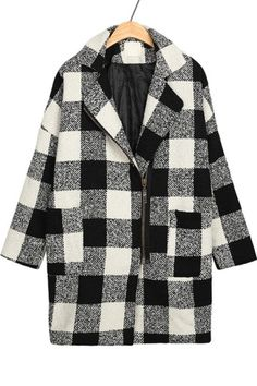 I finally broke down and ordered this Notched Collar Plaid Coat from OASAP.com