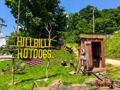 Hillbilly Hot Dogs is located in Lesage, West Virginia.  Travel | West Virginia | Attractions | Things To Do | Food | Hot Dogs | Restaurants