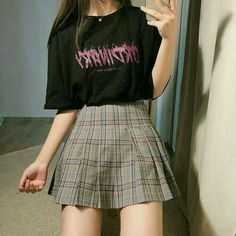 Edgy Outfits, Korean Outfits, Retro Outfits, Grunge Outfits, Cute Casual Outfits, Girl Outfits, Fashion Outfits, Fashion Belts, Fashion Ideas