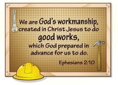 Make this from paper to look like a bulletin board and put memory verse on it but also use this verse somewhere Construction Theme Classroom, Construction Party, Vbs Themes, School Themes, School Ideas, Maker Fun Factory Vbs, Christian Women Blogs, Christian Friends, Scripture Art