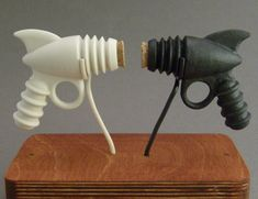 Picture of Porcelain Salt and Pepper Ray-guns >>> Perfect for Father's Day!