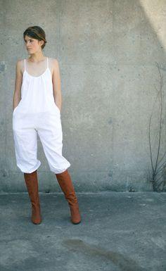 Rachel Antonoff Ivory Coco Jumpsuit