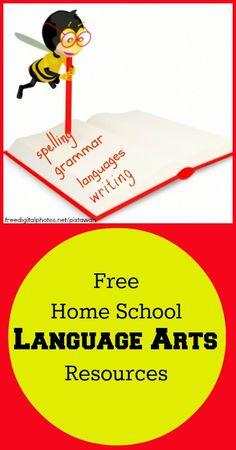 Free Homeschool Language Arts Resources -- {Homeschooling, Free Homeschooling Resources, Frugal Homeschool, Frugal Homeschooling, Tips for Moms, Education}