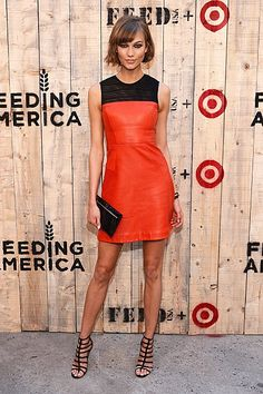 Karlie Kloss in Jason Wu leather dress from the FW 2013 collection, available at Bergdorf Goodman and Neiman Marcus