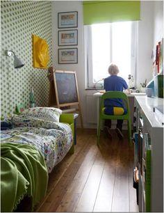 the boo and the boy: boys' rooms Narrow Bedroom, Narrow Rooms, Girls Bedroom, Bedroom Decor, Bedroom Ideas, Casa Kids, Magazine Deco, Ikea, Tiny Living Rooms