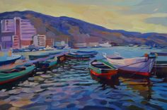 "Saatchi Art Artist Anastasia Yaroshevich; Painting, ""Seascape"" #art"
