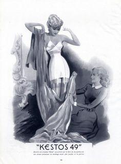 Kestos (Lingerie) 1949 Girdle Vintage advert Lingerie