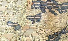 detail of The Fra Mauro World Map of circa 1450, 1804