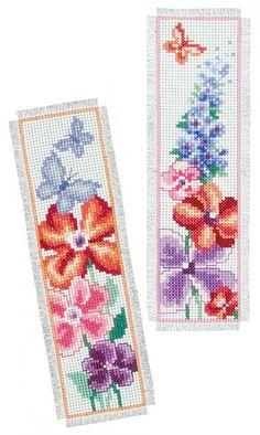 Summer Bouquet Bookmarks Cross Stitch Kit   sewandso