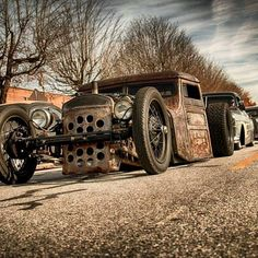 Enjoy this gallery of really cool Rat Rods. People are very creative! Jeep Rat Rod, Rat Rod Pickup, Rat Rod Cars, Hot Rod Trucks, Old Trucks, Chevy Trucks, Pickup Trucks, Truck Drivers, Semi Trucks