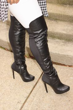 Thigh High Boots, High Heel Boots, Over The Knee Boots, High Heels, Tall Boots, Stylish Boots, Sexy Boots, Sexy Heels, High Leather Boots