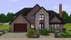 Utah Luxury House by stonee206 - Sims 3 Downloads CC Caboodle
