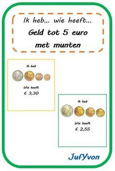 ©JufYvon: ik heb, wie heeft...? - geld tot 5 euro in munten