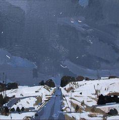 Return on 10 Original Winter Snow Scene Landscape Painting on