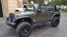 Army Green Jeep Wrangler