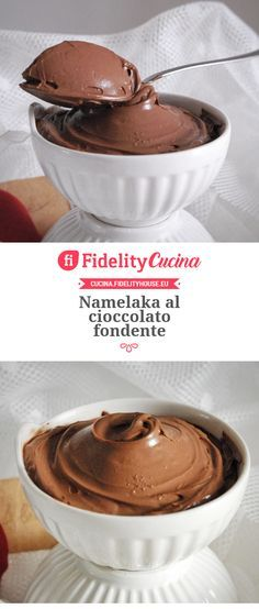 Namelaka with dark chocolate- Namelaka al cioccolato fondente Namelaka with dark chocolate - No Bake Chocolate Cake, Hot Chocolate Gifts, Soft Chocolate Chip Cookies, Chocolate Pastry, Chocolate Desserts, Quick Easy Desserts, Mini Desserts, Vegan Desserts, Sweet Recipes