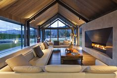 The Lodge at the Hills, Queenstown, on a golf course.