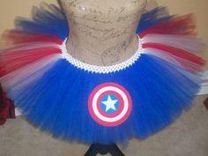 Captain America Inspired Running Tutu by TutuDaLooo on Etsy! www.etsy.com/shop/tutudalooo