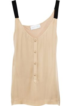 wouldn't be hard to re-purpose a silky button down into a tank like this.