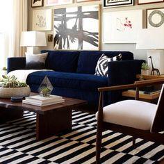 #emilyhenderson living room #westelm sofa and wall art, #ikea rug.