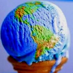 Awesome! Globe ice cream.