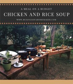 Chicken and Rice Soup on a Budget Take A Meal, Chicken Rice Soup, Home Food, Canning Recipes, Budget Meals, Hospitality, Budgeting, Life Tips, Dinner