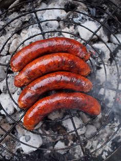 These sausages look so good. They are reddish brown, bright and glossy, and perfect to serve with buns or potato salad, pickles, mustard and...