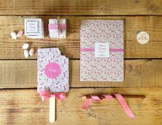 Thème Liberty eloise rose / Design by Crème de Papier Communion, Baby Love, Creme, Eloise, Sienna, Juliette, Party, Invitations, Design