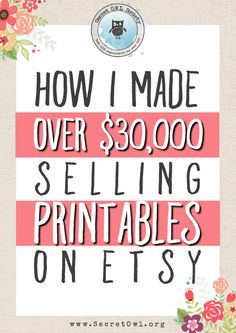 It's possible to make a solid income selling printables on Etsy?!