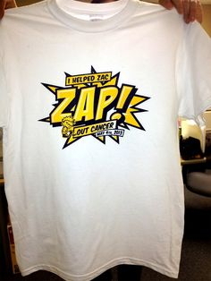 Custom t-shirts donated for Zac Cain Cancer fundraiser event