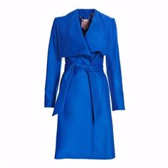 Genuine TED BAKER Blue Danita Wool / Cashmere Wrap Coat Size 3 UK 12 RRP £299 | Clothes, Shoes & Accessories, Women's Clothing, Coats & Jackets | eBay!