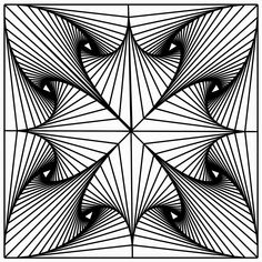 The Mathematics of Art: Fractal Tiling - Student Artwork Illusion Drawings, Illusion Art, Zentangle Drawings, Art Drawings, Zentangles, Op Art Lessons, Geometry Art, Fractal Geometry, Geometric Drawing