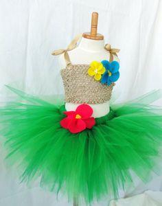Hawaiin Hula Girl Tutu Costume Set by louloututu on Etsy, $59.99