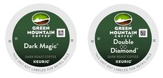 Green Mountain Coffee -- DARK MAGIC and DOUBLE BLACK DIAMOND -- Extra Bold Variety Pack 48 K-Cups for Keurig Brewers -- Click image for more details.