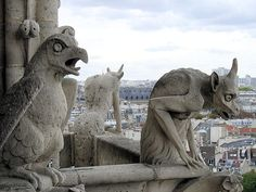 Gargoyles keep vigilance over all those below on the the Ile de la Cité and the surrounding city of Paris. EuroTravelogue™: July 2010