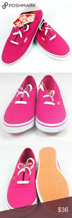 VANS Off the Wall Neon Pink Canvas Shoes VANS Off the Wall Neon Pink Canvas Shoes Sneakers New Women's 7 Men's 5.5 Unisex  New without box. Vivid pink color and VANS quality. Vans Shoes Sneakers