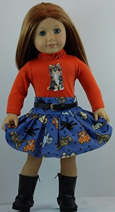 Charming Tails 4 pc Skirt Outfits includes Boots and fits 18 inch American Girl Dolls. Doll Clothes Shop http://www.amazon.com/dp/B00L18HPIA/ref=cm_sw_r_pi_dp_Mkwvub0PNN4T7