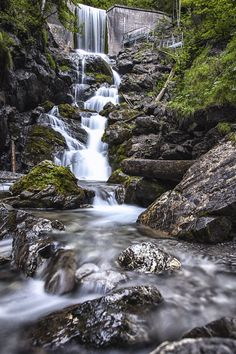 Waterfall in Baad Mountain Landscape, Lakes, Waterfall, Outdoor, Outdoors, Waterfalls, Outdoor Games, Outdoor Living