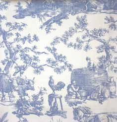 Image Detail For Waverly Country House Toile Fabric