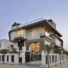 Fantastic Architecture Building Ideas To Inspire You House Front Design, Modern House Design, Modern Exterior House Designs, Dream House Plans, Modern House Plans, Ok Design, Design Ideas, Casas Containers, Facade House