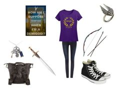 """Percy Jackson"" by isabel-dickinson ❤ liked on Polyvore featuring Dr. Denim, Converse, Mialuis and Lulu Frost"